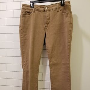 NYDJ khaki straight leg pants